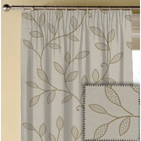 Clarke and Clarke Richmond Hetton Natural Made to Measure Curtains