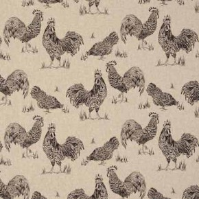 Clarke and Clarke Fougeres Chickens Noir Made to Measure Curtains