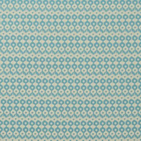 Clarke and Clarke Zanzibar Chico Aqua Curtain Fabric