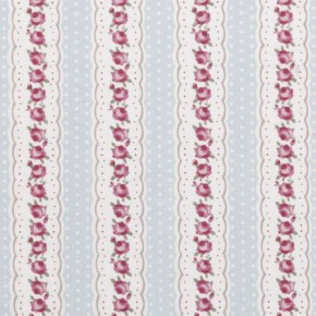 Clarke and Clarke Rosetta Chloe Sky Curtain Fabric