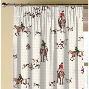 Clarke and Clarke Blighty Horse&Hound Multi Made to Measure Curtains