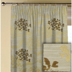 Prestigious Textiles Eden Hydrangea Chartreuse Made to Measure Curtains