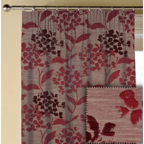 Prestigious Textiles Eden Hydrangea Cranberry Made to Measure Curtains