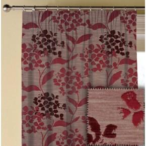 Prestigious Textiles Eden Hydrangea Cranberry Made to Measure Curtains