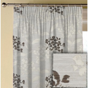 Prestigious Textiles Eden Hydrangea Praline Made to Measure Curtains