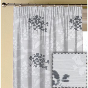 Prestigious Textiles Eden Hydrangea Sterling Made to Measure Curtains