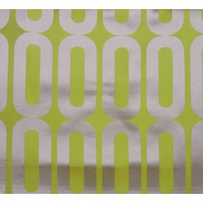 Helix Circuit Lime Curtain Fabric