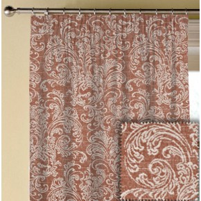 Prestigious Textiles Devonshire Ivybridge Paprika Made to Measure Curtains