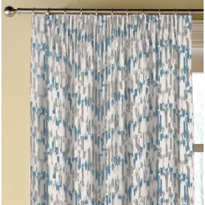 Clarke and Clarke Chateau Jardin Aqua Made to Measure Curtains