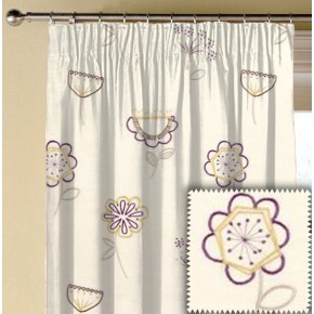 Clarke and Clarke Festival Jubilee Elderberry Made to Measure Curtains