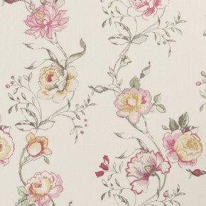 Clarke and Clarke Clarisse Clarisse Raspberry Curtain Fabric