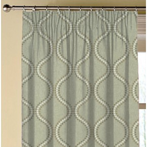 Clarke and Clarke Halcyon Layton Dove Made to Measure Curtains