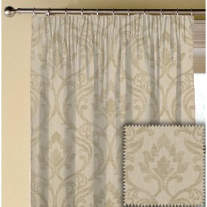 Clarke and Clarke Richmond Leyburn Natural Made to Measure Curtains