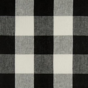 Clarke and Clarke Coastal Linens Clifford Check Charcoal Curtain Fabric