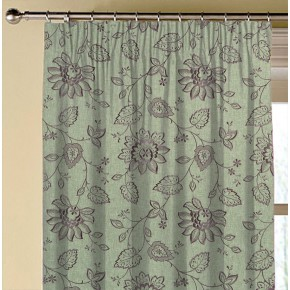 Clarke and Clarke Halcyon Liliana Heather Made to Measure Curtains