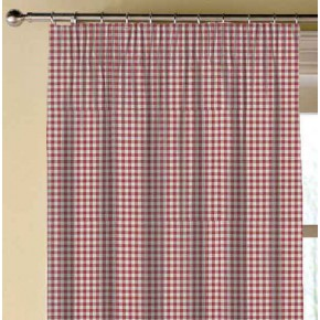Clarke and Clarke Glenmore Loch Red Made to Measure Curtains