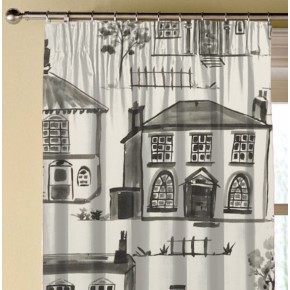 Clarke and Clarke Folia Maison Charcoal Made to Measure Curtains