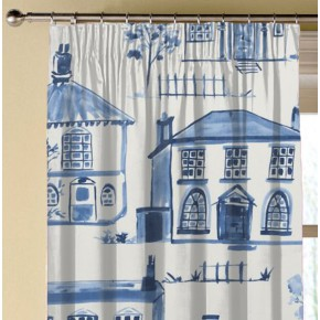 Clarke and Clarke Folia Maison Delft Made to Measure Curtains