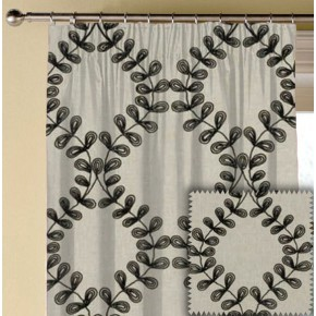Clarke and Clarke Richmond Malham Charcoal Made to Measure Curtains