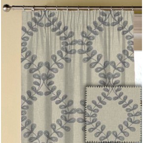 Clarke and Clarke Richmond Malham Smoke Made to Measure Curtains