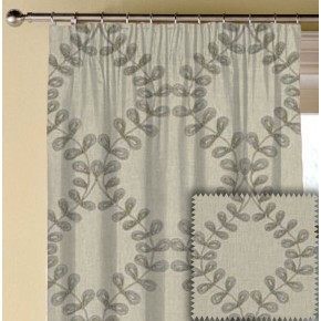 Clarke and Clarke Richmond Malham Taupe Made to Measure Curtains