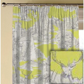 Clarke and Clarke Garden Party Manor Toile Citrus Made to Measure Curtains