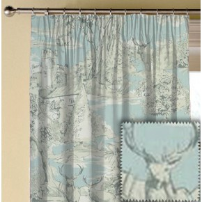 Clarke and Clarke Garden Party Manor Toile Mineral Made to Measure Curtains