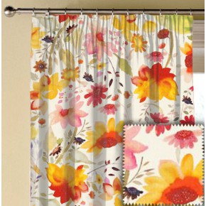 Clarke and Clarke Artbook Martine Linen Multi Made to Measure Curtains