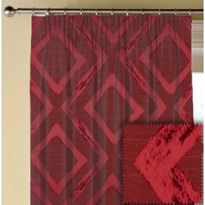Prestigious Textiles Eden Matico Cranberry Made to Measure Curtains