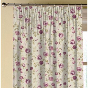 Clarke and Clarke Genevieve Maude Mulberry Made to Measure Curtains