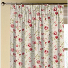Clarke and Clarke Genevieve Maude OldRose Made to Measure Curtains