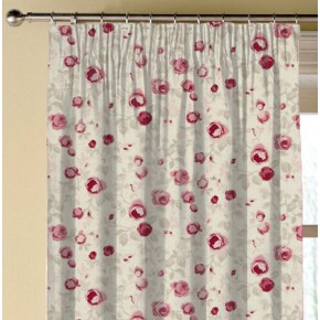 Clarke and Clarke Genevieve Maude Raspberry Made to Measure Curtains