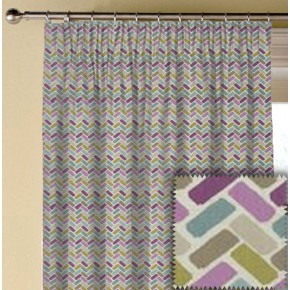 Clarke and Clarke Cariba Maya Heather Made to Measure Curtains
