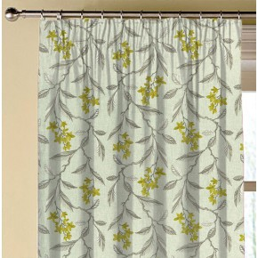 Clarke and Clarke Halcyon Melrose Chartreuse Made to Measure Curtains