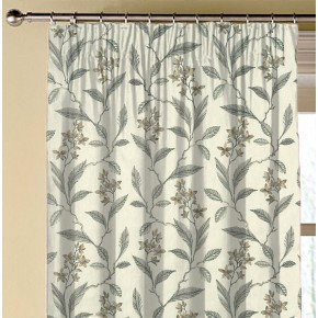 Clarke and Clarke Halcyon Melrose Natural Made to Measure Curtains