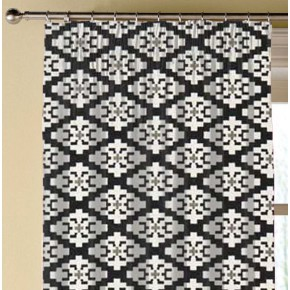 Clarke and Clarke Chateau Michel Ebony Made to Measure Curtains