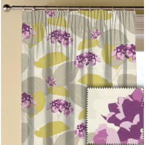 Clarke and Clarke La Vie Monaco Berry Made to Measure Curtains