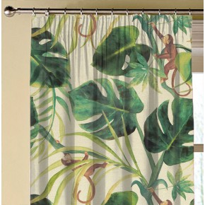 Clarke and Clarke  Colony Monkey Business Natural Made to Measure Curtains
