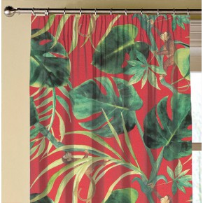 Clarke and Clarke  Colony Monkey Business Rouge Made to Measure Curtains