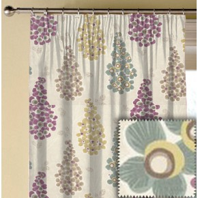 Clarke and Clarke Cariba Mustique Heather Made to Measure Curtains