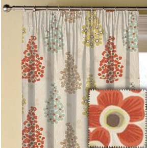 Clarke and Clarke Cariba Mustique Spice Made to Measure Curtains
