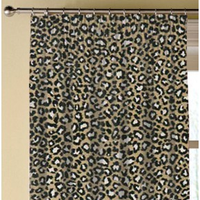 Clarke and Clarke Chateau Ocelot Ebony Made to Measure Curtains