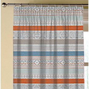 Clarke and Clarke Oslo Ommel Spice Teal Made to Measure Curtains