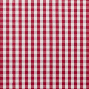 Clarke and Clarke Ticking Stripes Coniston Red Curtain Fabric