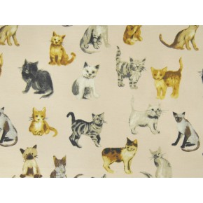 Novelty Cool Cats Rose Made to Measure Curtains