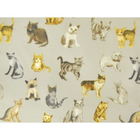 Novelty Cool Cats silver Made to Measure Curtains