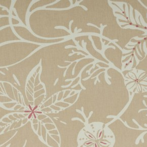 Clarke and Clarke Maritime Prints Coral Sand Made to Measure Curtains
