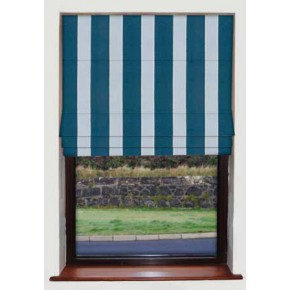 Corduroy Stripe Blue Roman Blind