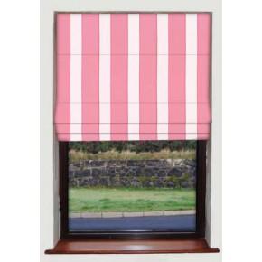 Corduroy Stripe Pink Roman Blind