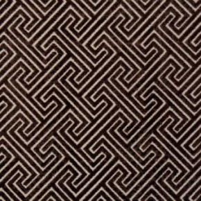 Clarke and Clarke Academy Velvets Cosimo Chocolate Curtain Fabric